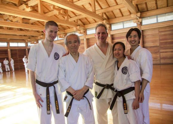 UNL SKA black belts with SKA founder Tsutomu Ohshima